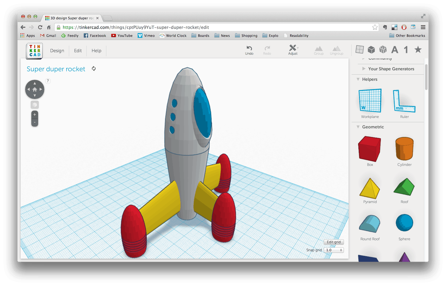 Tinkercad 3d printer design software