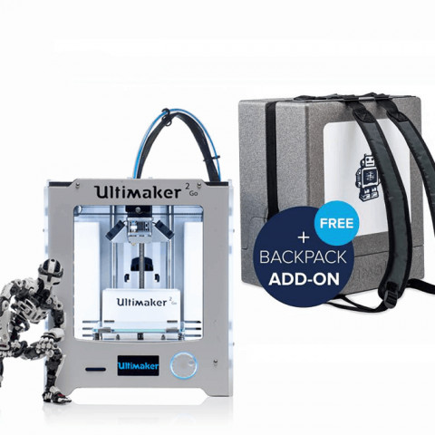 Ultimaker 2 Go add on backpack at local makers