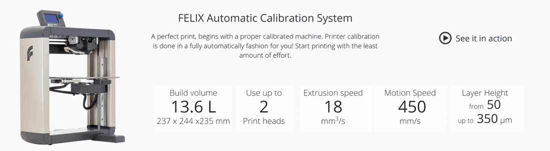 Felix Printers presents the new Felix Pro 2, dual extrusion, professional printer easy to use with advanced filament detection and bed calibration