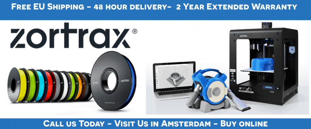 Buy Zortrax 3D printers in Amsterdam, The netherlnds