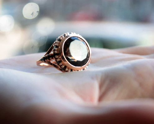 ring with diamonds and opal, Local Makers, Amsterdam