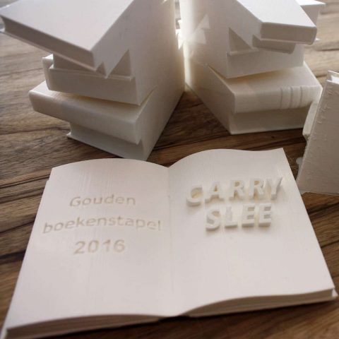 3D printed book award by Local Makers in Amsterdam
