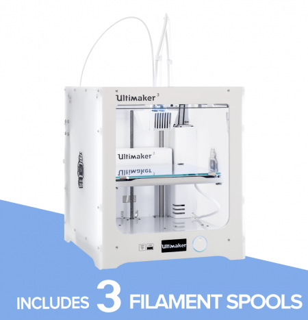 New Ultimaker 3 the best printer for dual extrusion and reliability