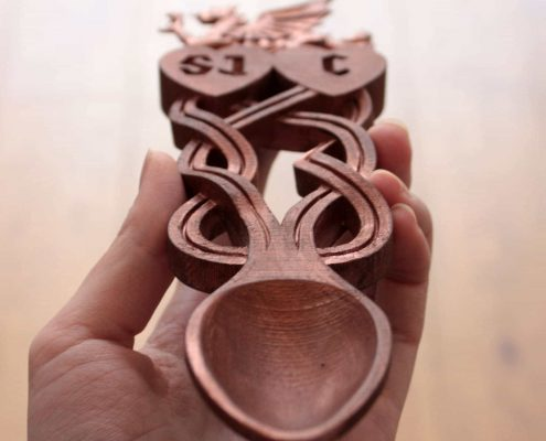 3D print of love spoon by Local Makers in Amsterdam