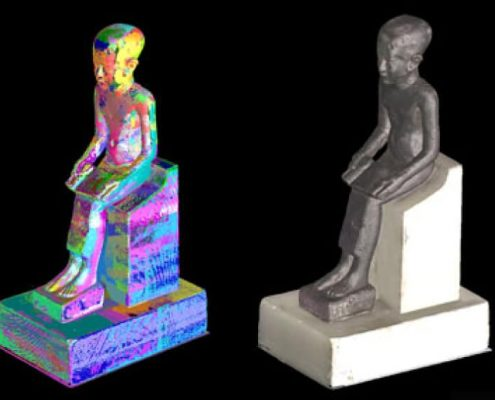 Scan and Printer statue