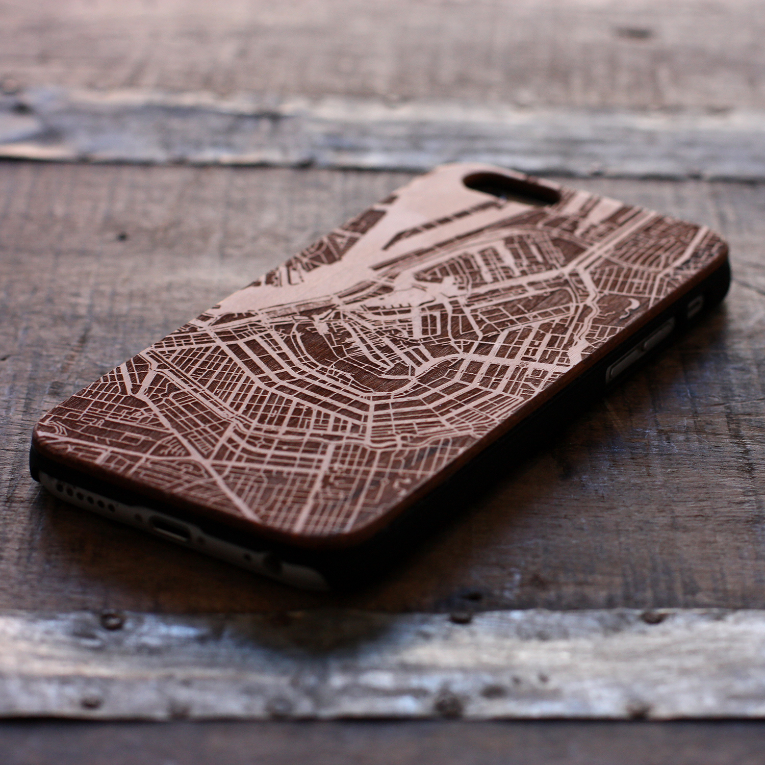 laser engraving on a phone case by Local Makers