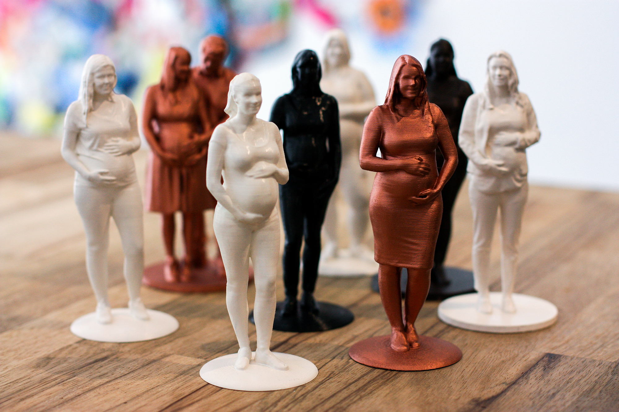 mini me 3D printed figurine for pregnant women