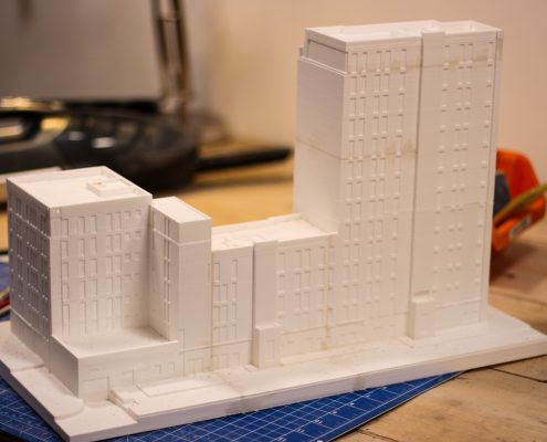 3D printed architecture mockup in Amsterdam