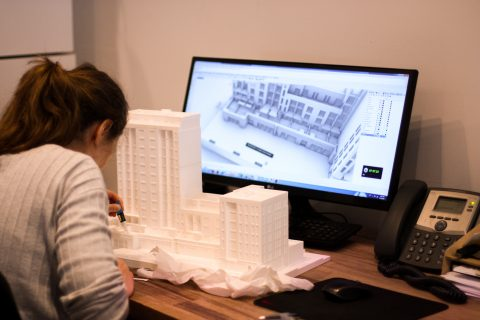 3D printing of an architecture 3D model in Amsterdam